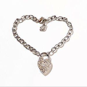 Swarovski Heart Lock Bracelet